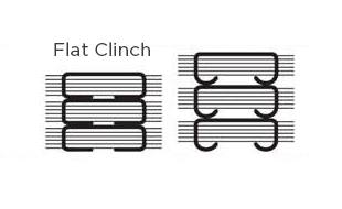 Flat Clinch Stapling